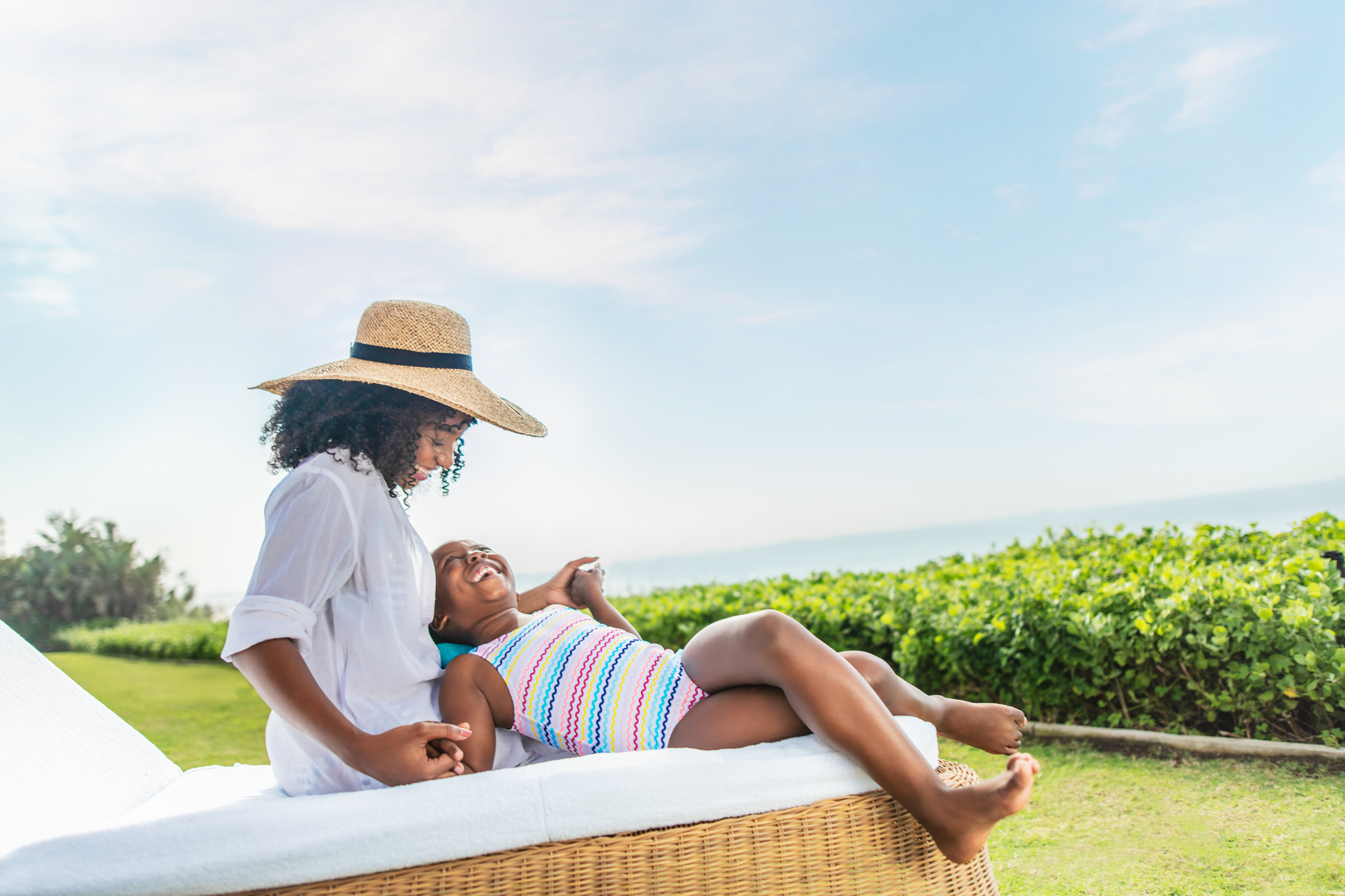 Image of Woman and daughter at the Beverly Hills Hotel in uMhlanga Rocks, Durban for  Tsogo Sun's Image Library & Content Library by Michelle Wastie Photography