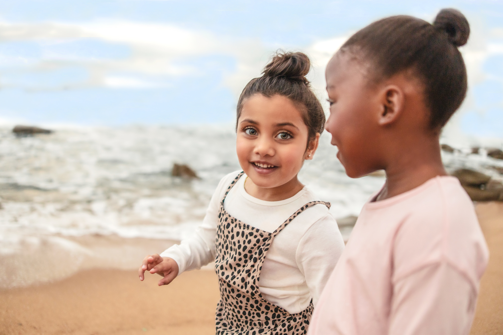Image of girls on beach at the Beverly Hills Hotel in uMhlanga Rocks, Durban for  Tsogo Sun's Image Library & Content Library by Michelle Wastie Photography