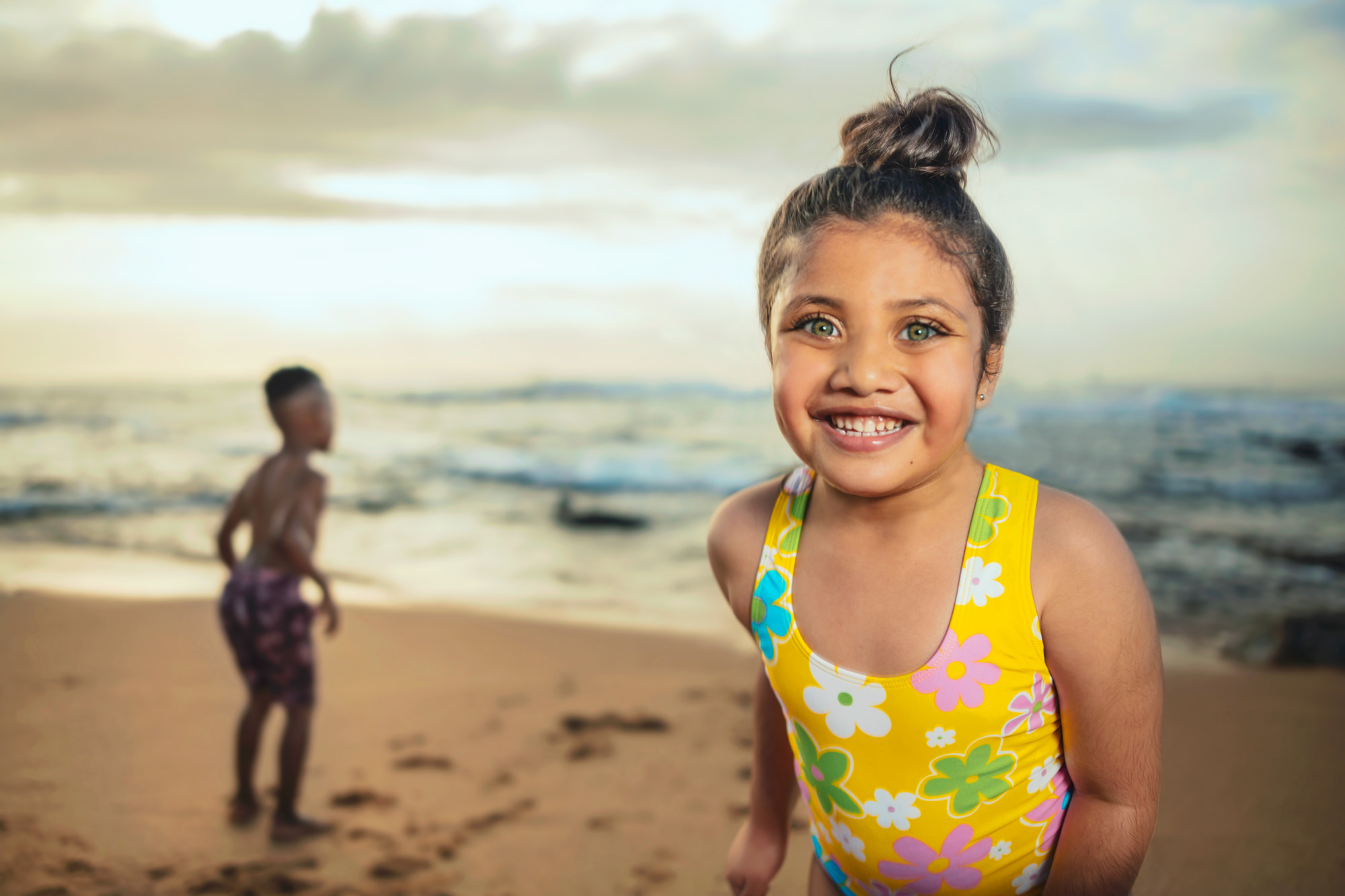 Image of girl on beach at the Beverly Hills Hotel in uMhlanga Rocks, Durban for  Tsogo Sun's Image Library & Content Library by Michelle Wastie Photography