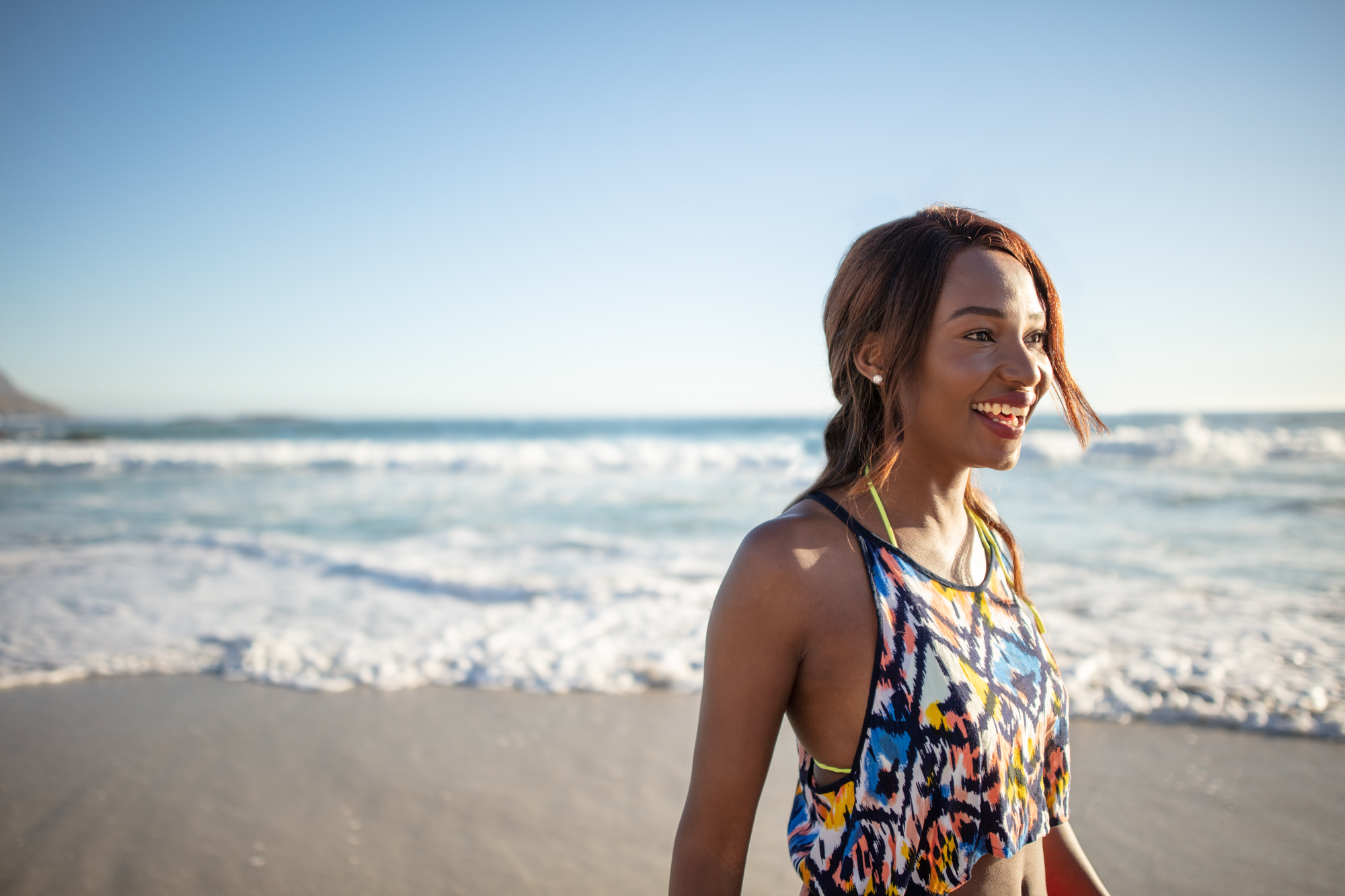 Image of girl on the beach in Cape Town for  Tsogo Sun's Image Library & Content Library by Michelle Wastie Photography