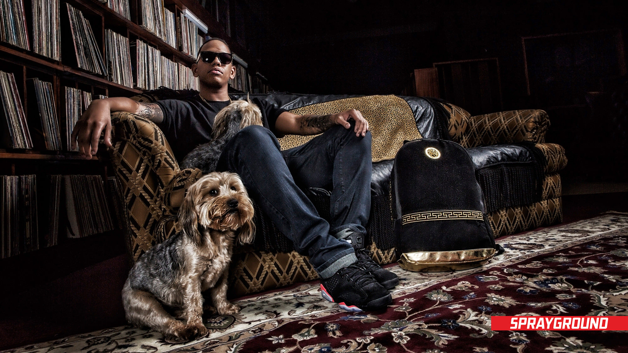 Image of Da L.E.Sin studio for Sprayground's Africa Launch by Michelle Wastie Photography.