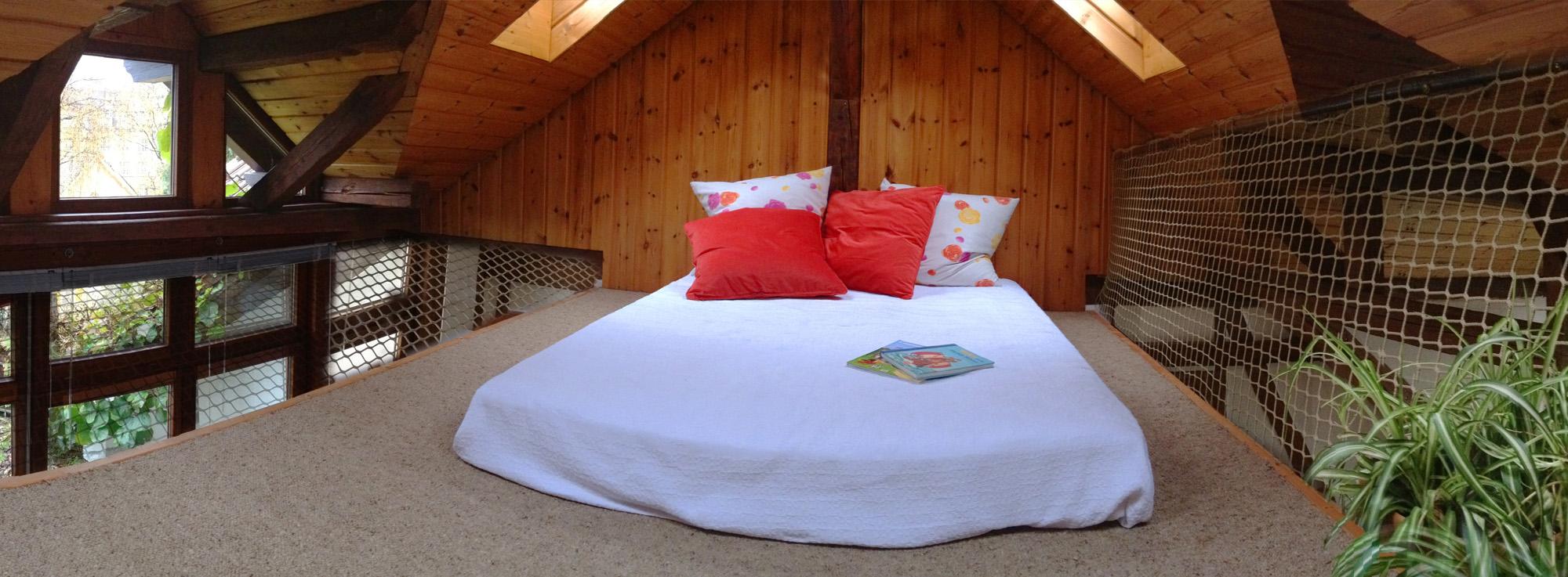 Schlafempore zum Relaxen in der Ferienwohnung Roos Konstanz