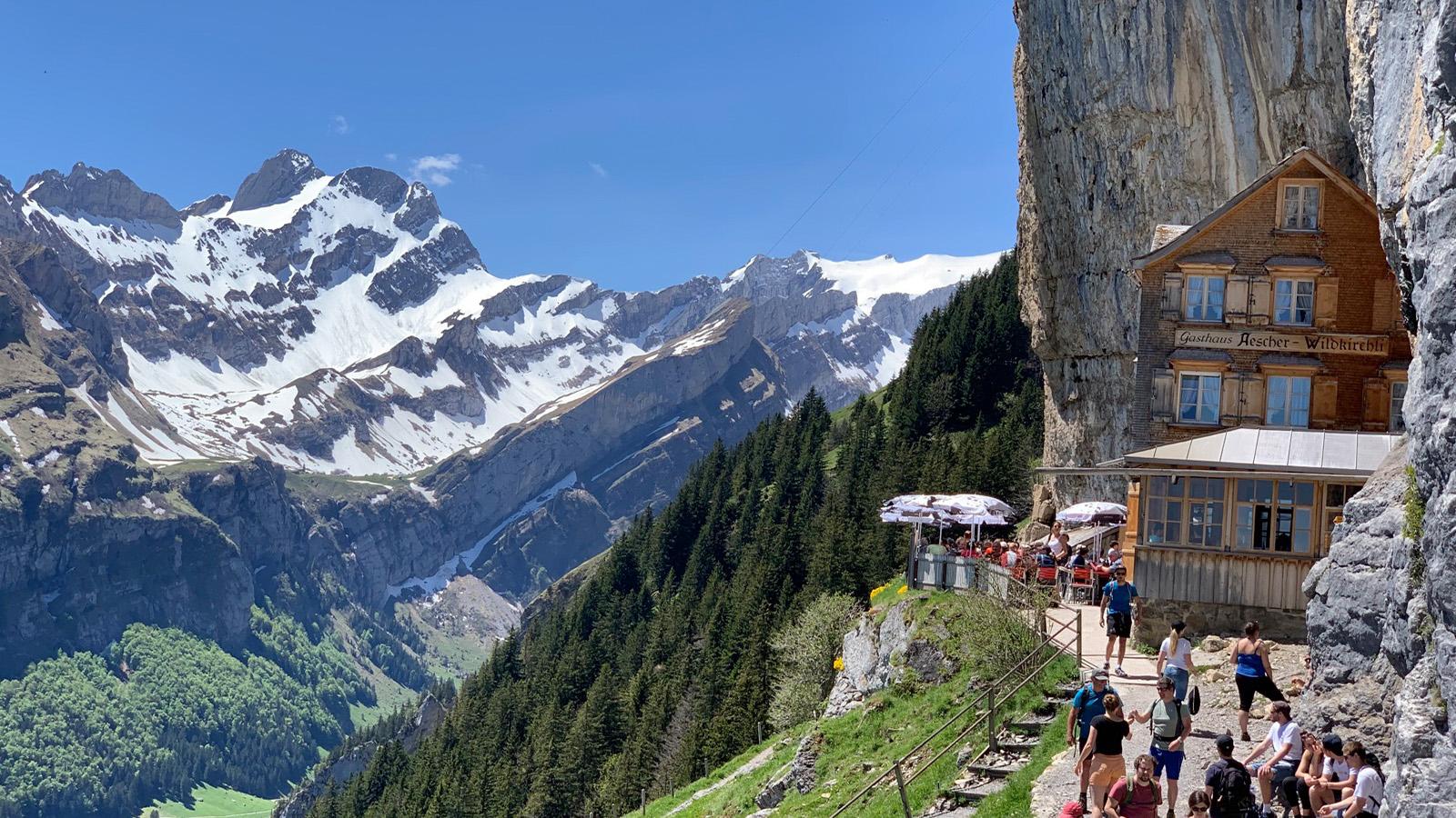 Appenzell Schweiz auf der berühmten Berghütte. Fast schon hochalpin aber gut erreichbar...