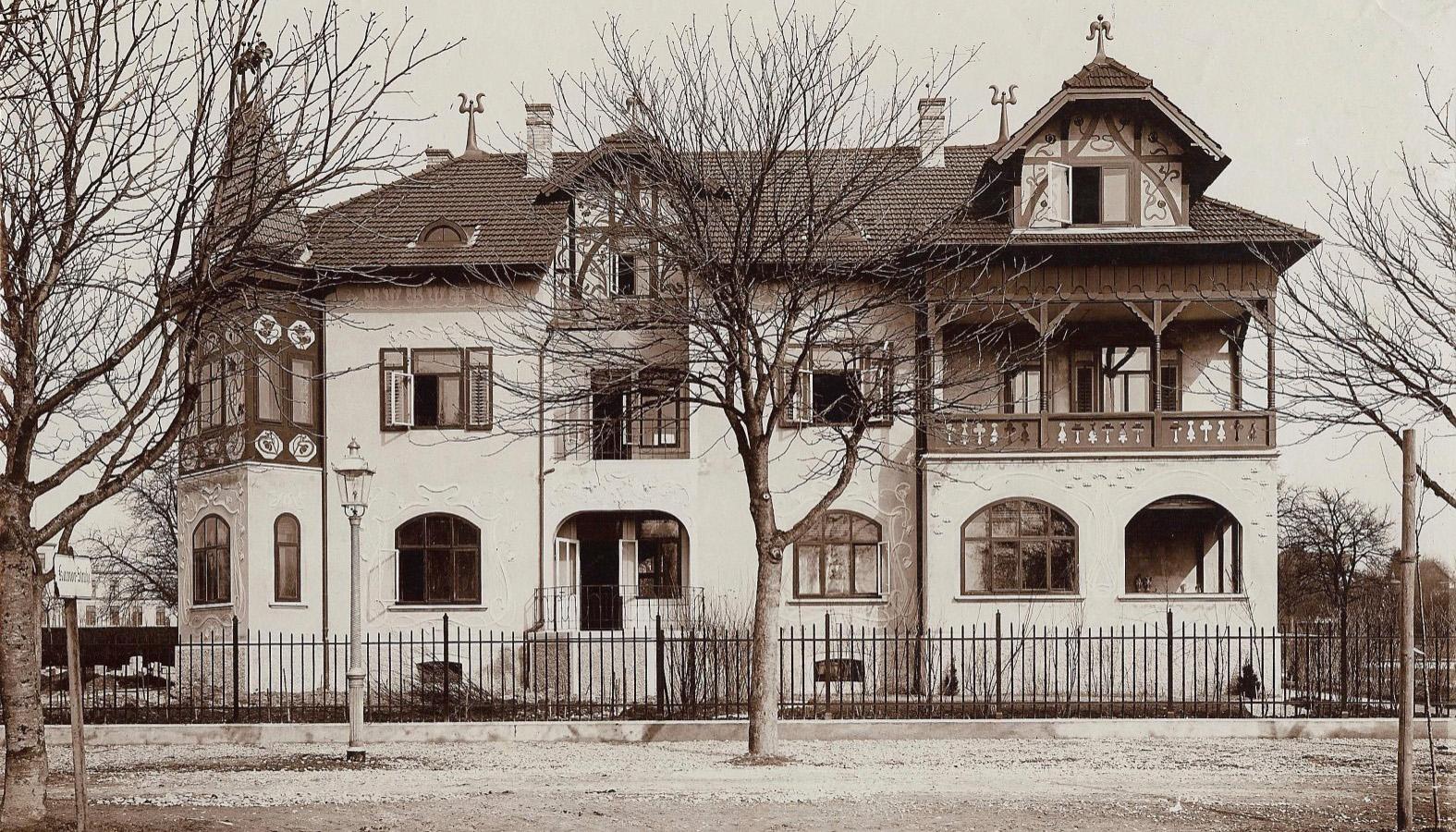 Villa Melena um 1910 in der Eichhornstrasse 3 in Konstanz am Bodensee