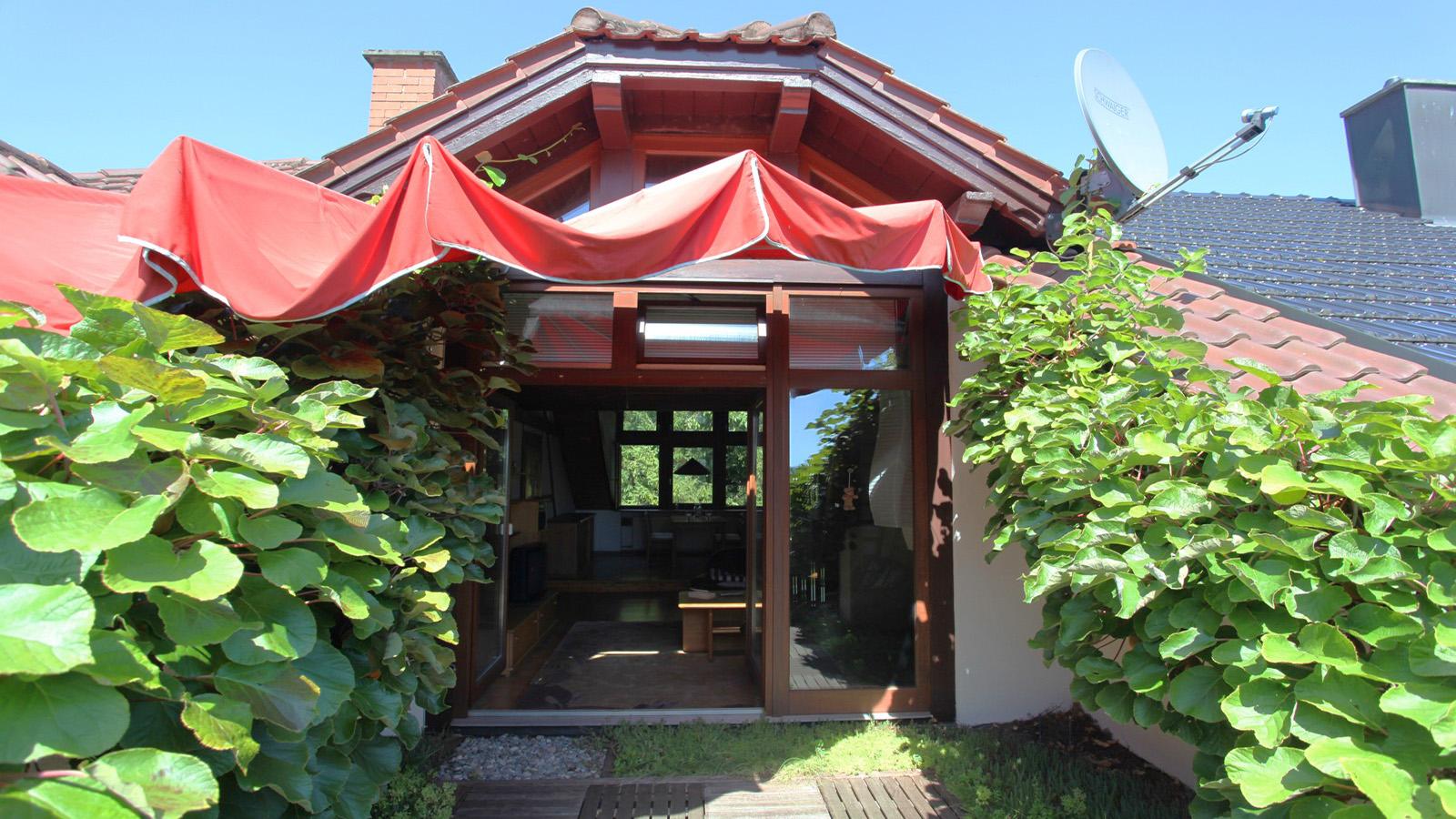 Dachterrasse mit Sonnensegel Fewo Roos in Konstanz Bodensee