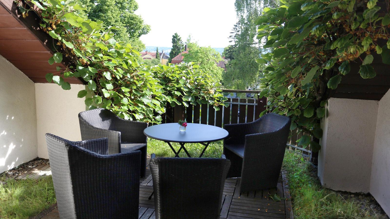 Dachterrasse der Ferienwohnung Roos am Bodensee in Konstanz