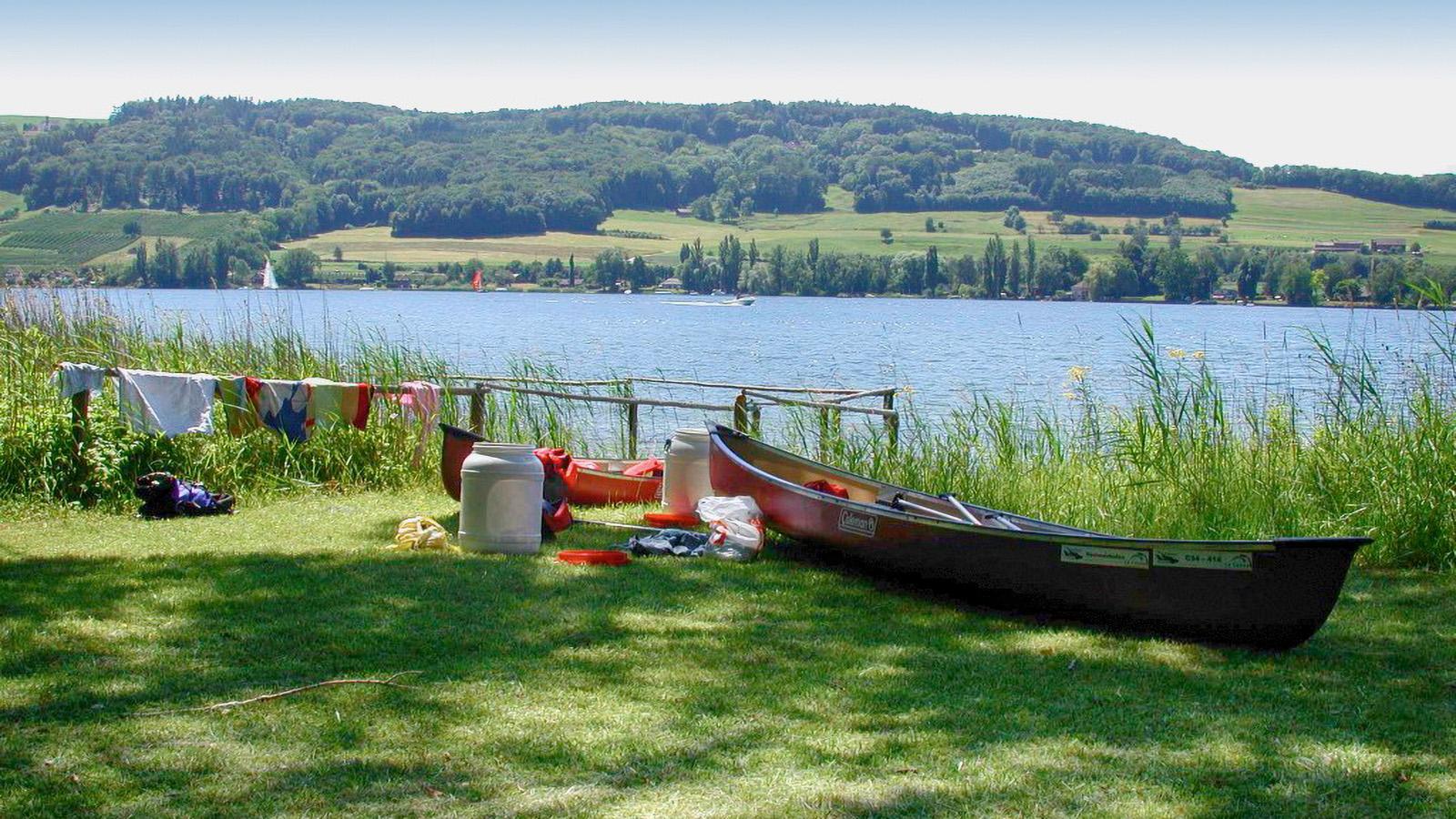 Ferien-Ausflug Paddeln auf dem Bodensee und Rhein mit Picknick am Bodensee