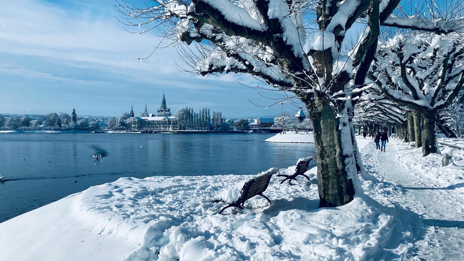 Seepromenade in Konstanz im Winter - Fewo Roos