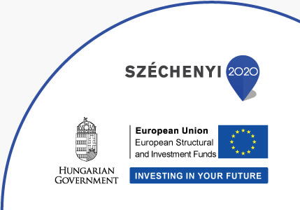 """Szechenyi 2020. Hungarian Government. European Union: Investing in your future"" logo"