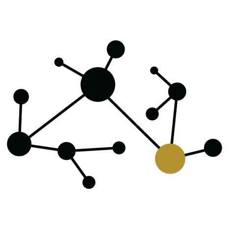 Icon with a network chart