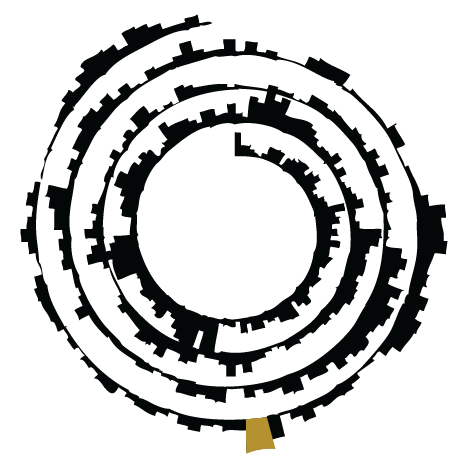 Icon with a spiral plot