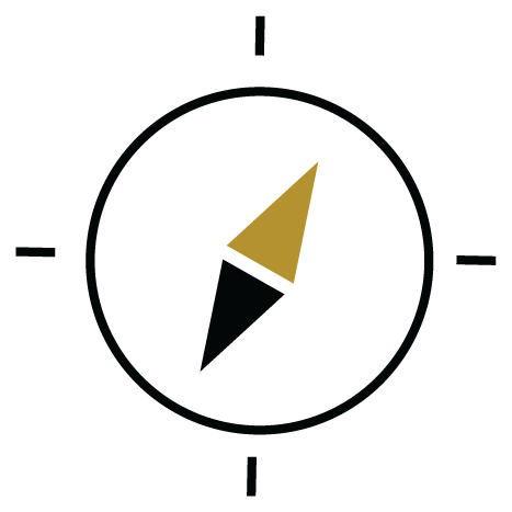 Icon with a compass