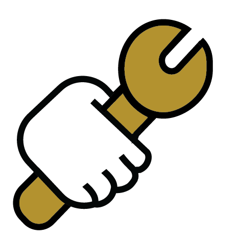 This is a screwdriver icon. because we are so hands.on.