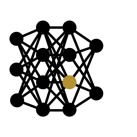 This is a deep feed forward network icon