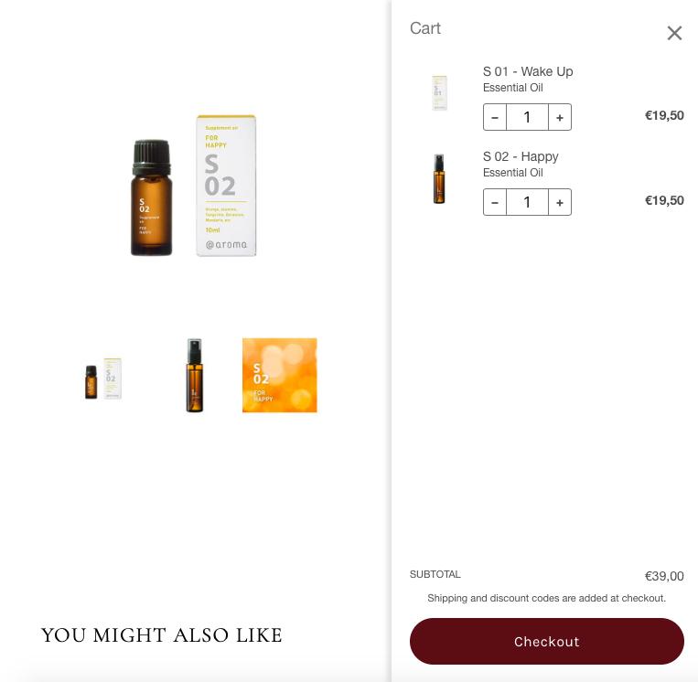 Essential oil e-commerce