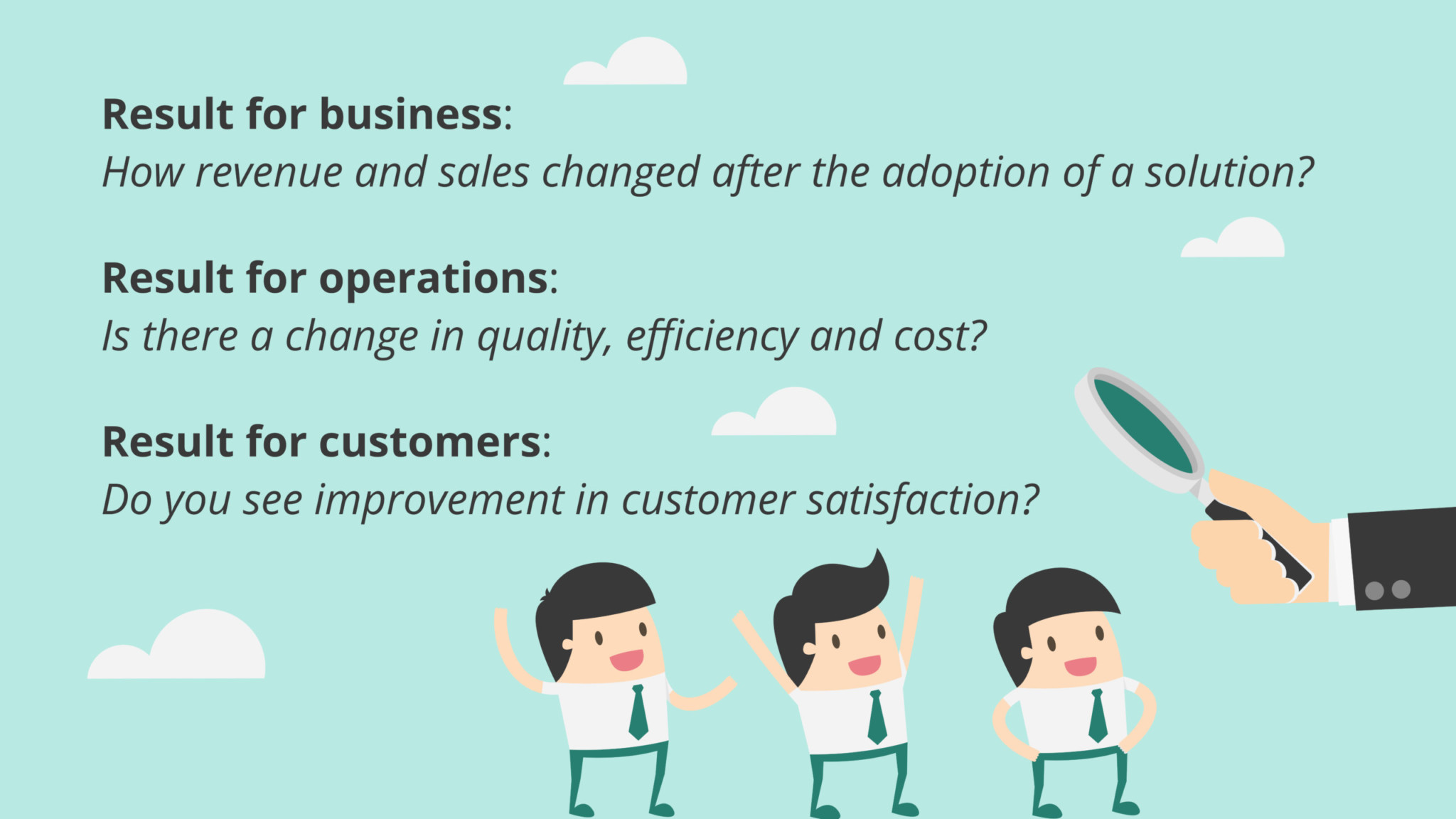 Types of conclusions for your insurance business.