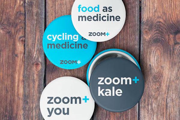 Une expérience utilisateur en termes d'assurance santé qui repose plutôt sur le bien-être général du corps humain que sur les seuls soins, pour prévenir tout autant que guérir (Zoom+ - © design agence Ziba).