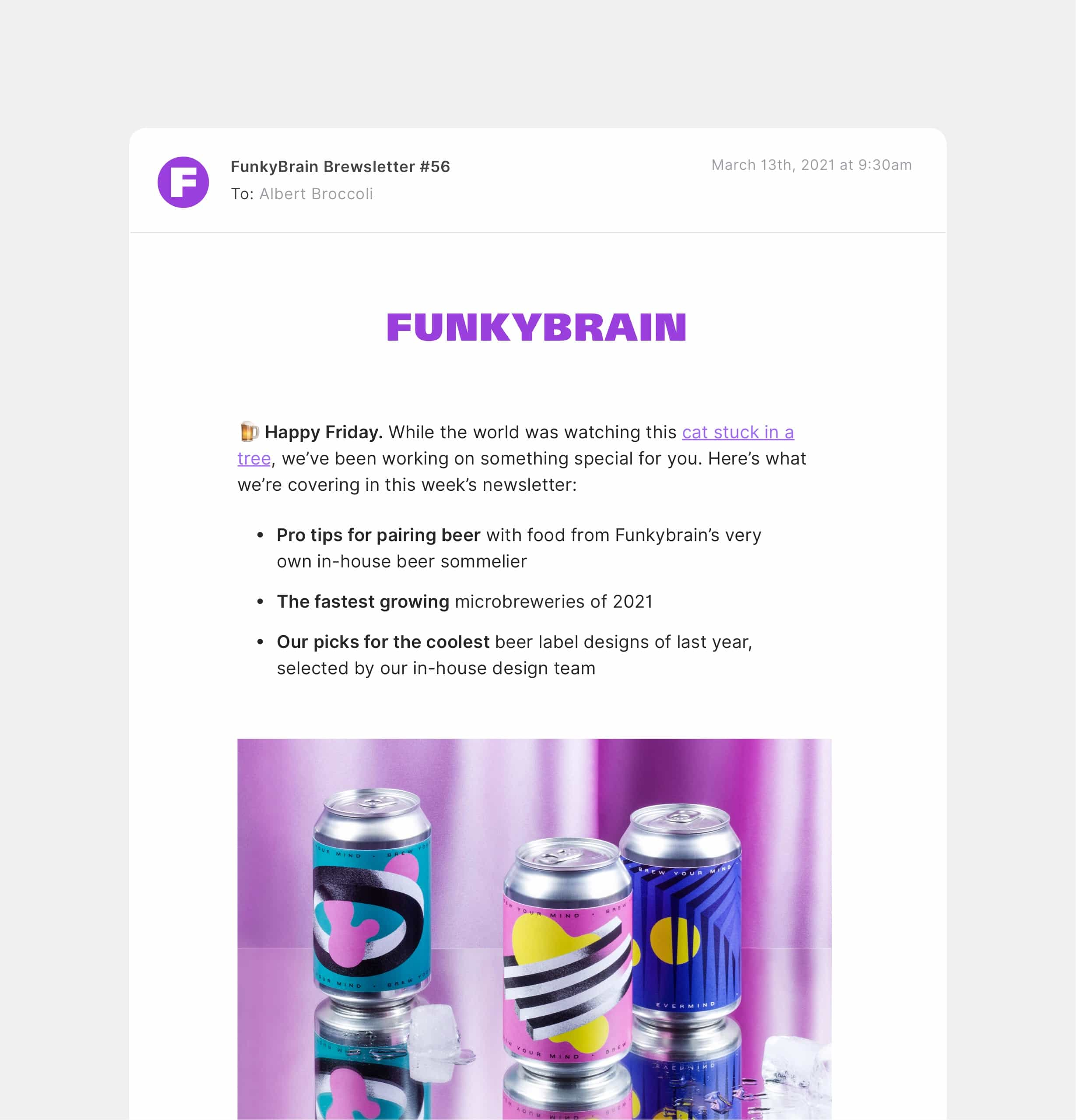Newsletter created with Audienceful