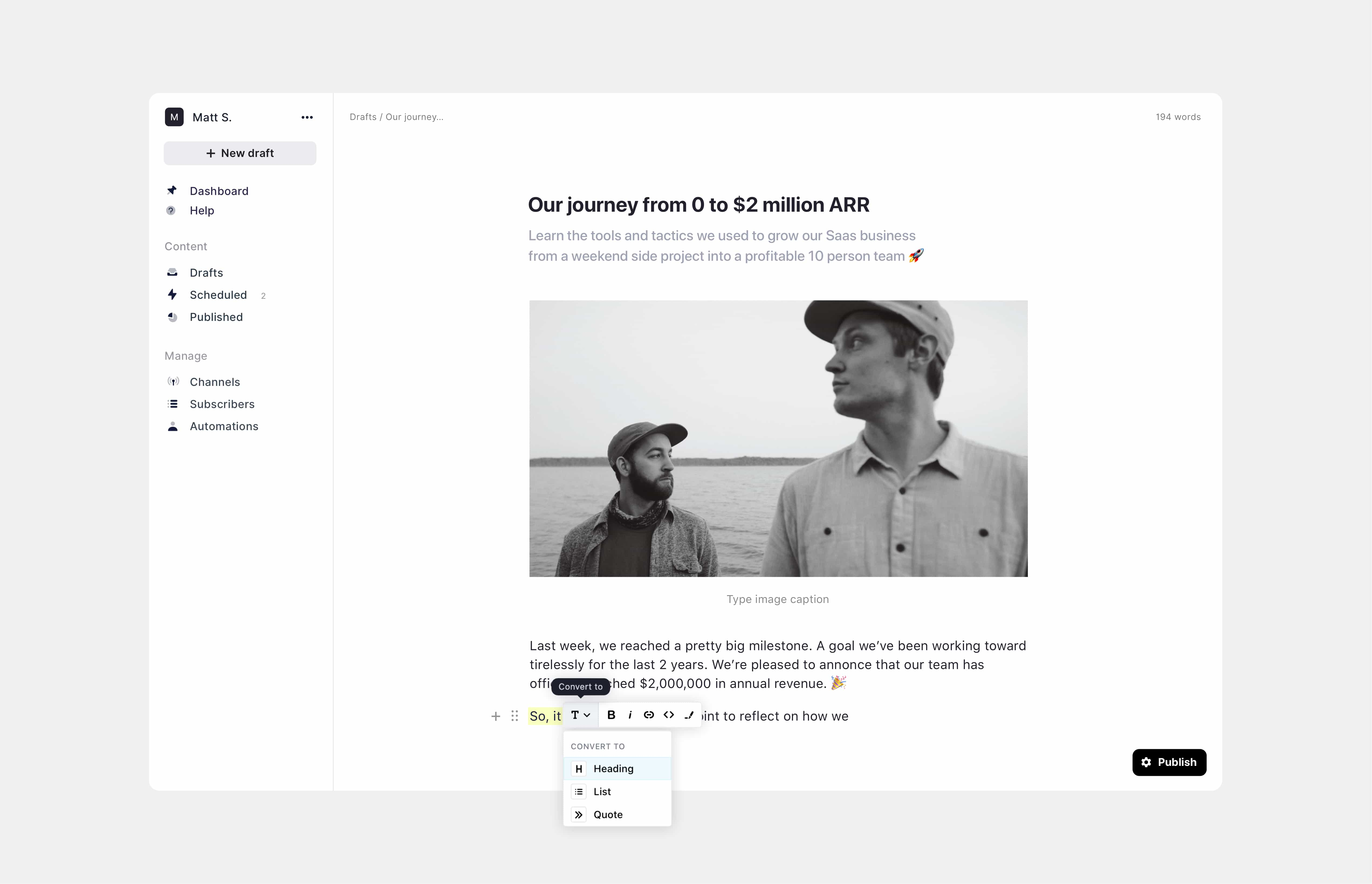 Audienceful email marketing for Webflow