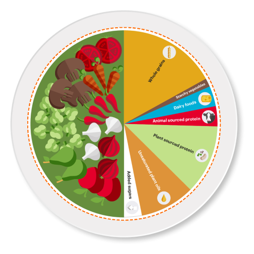 Planetary health diet pie