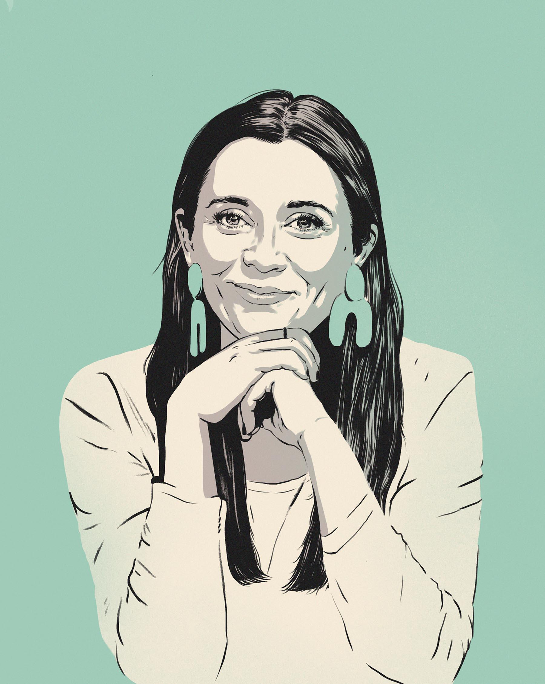 An illustrated portrait if Meghan Kraemer