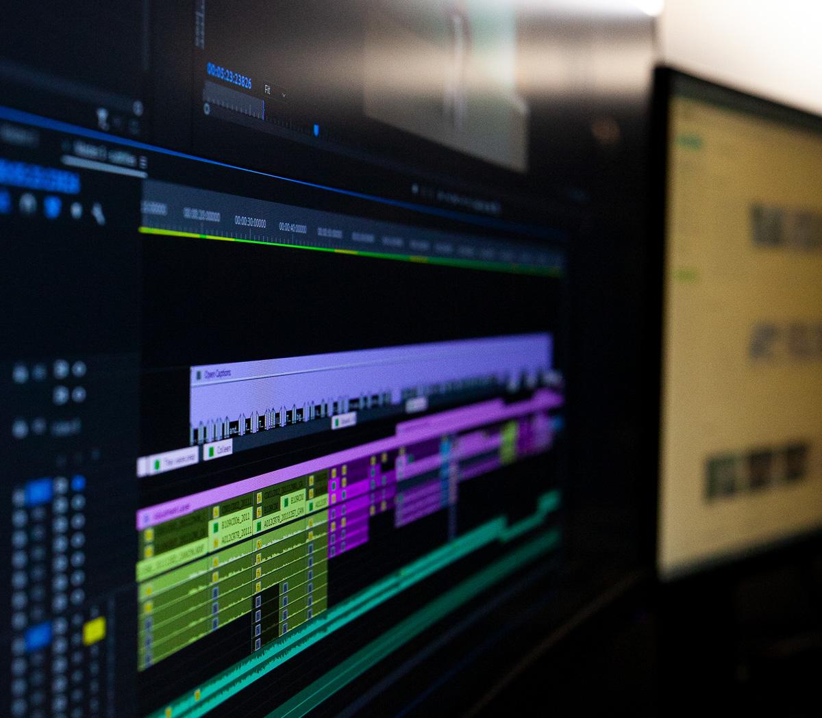 Post-production timeline premier pro