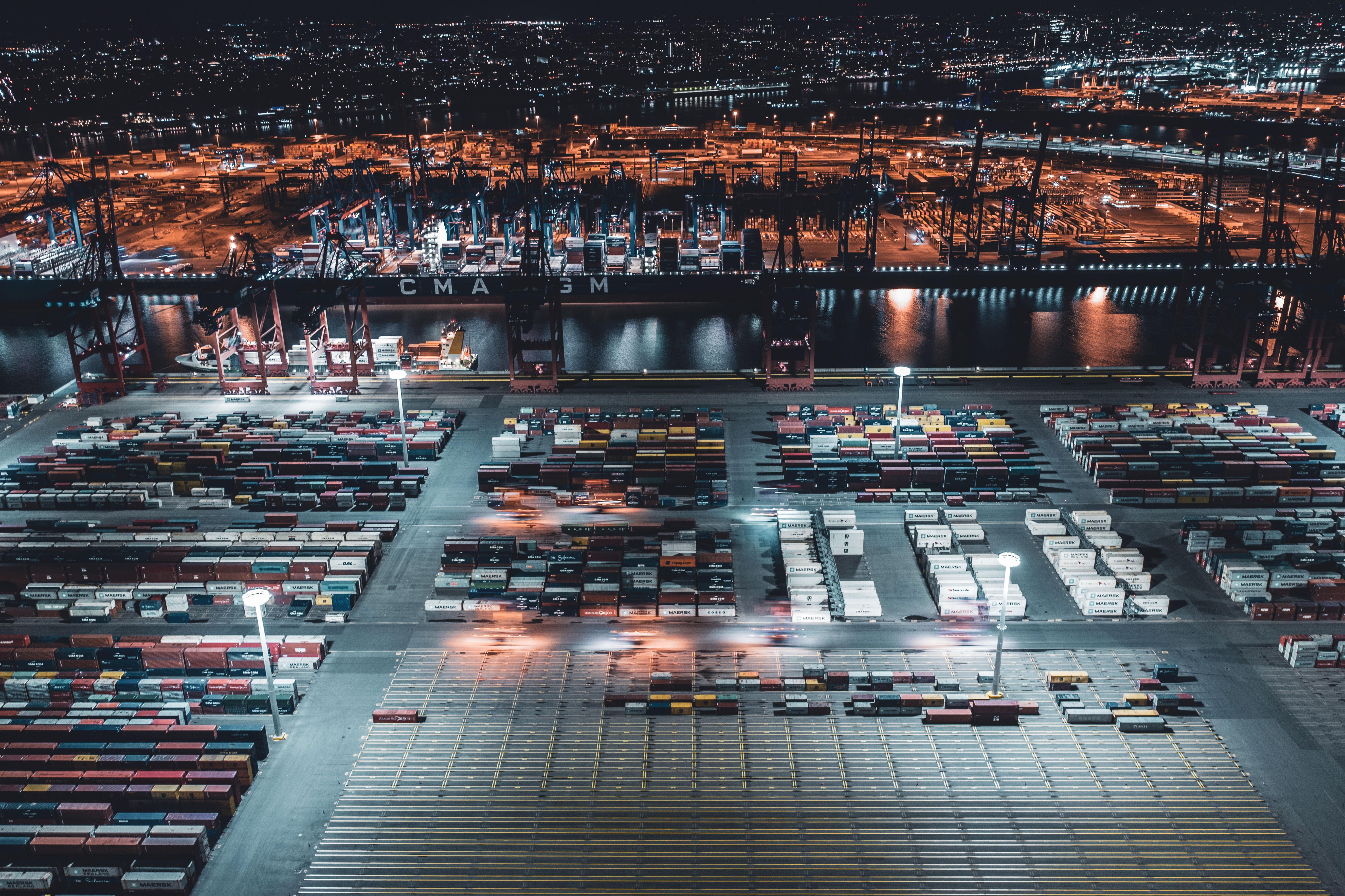 Hamburger Hafen Drohenaufnahmen