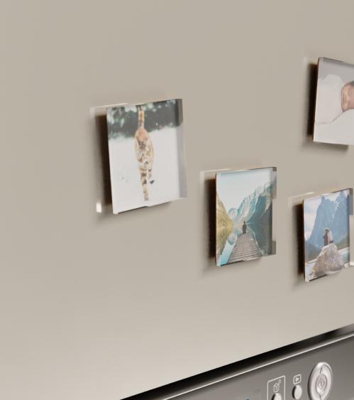 Fridge magnets on a fridge
