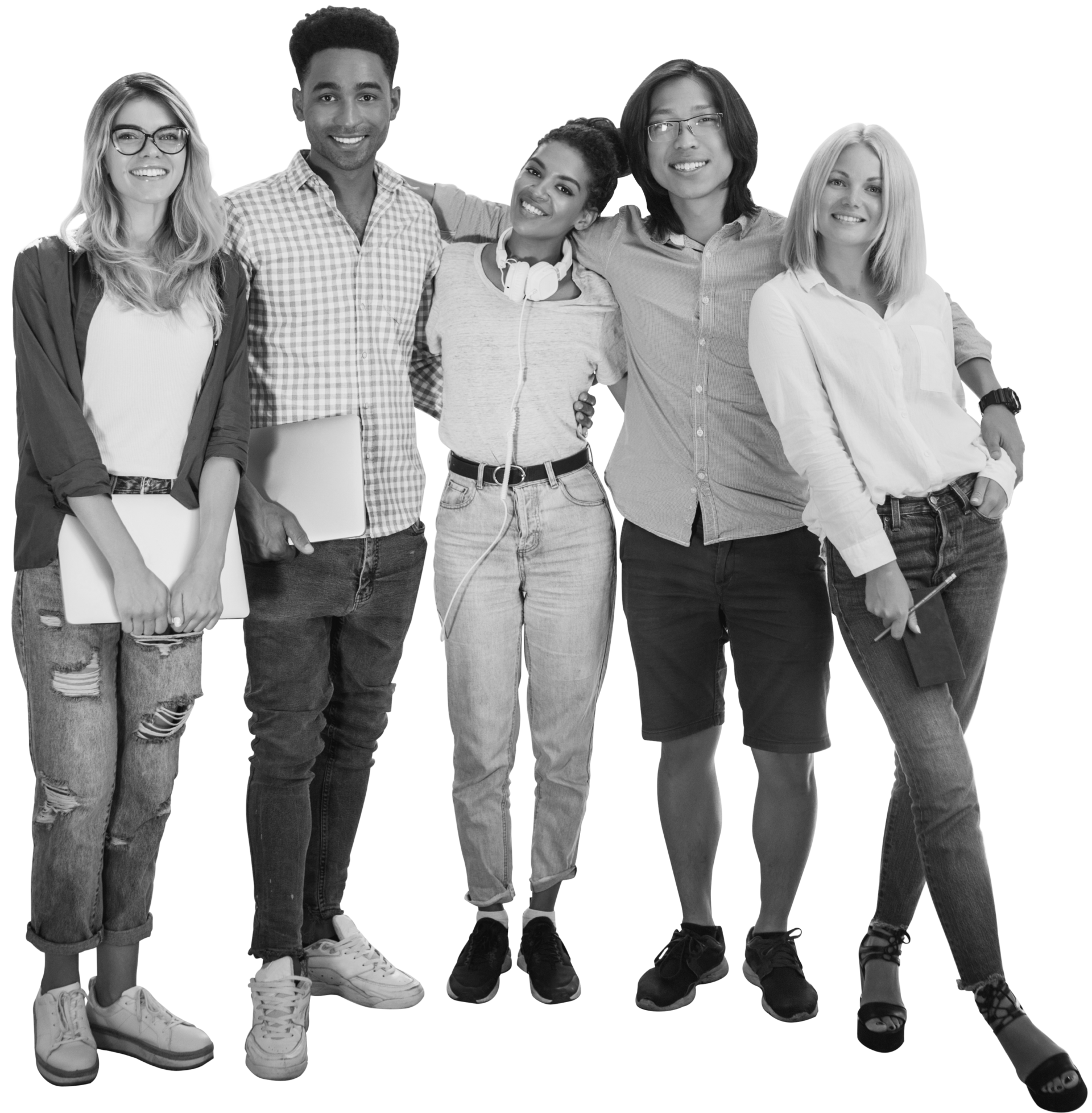 A group of young people posing for a photo