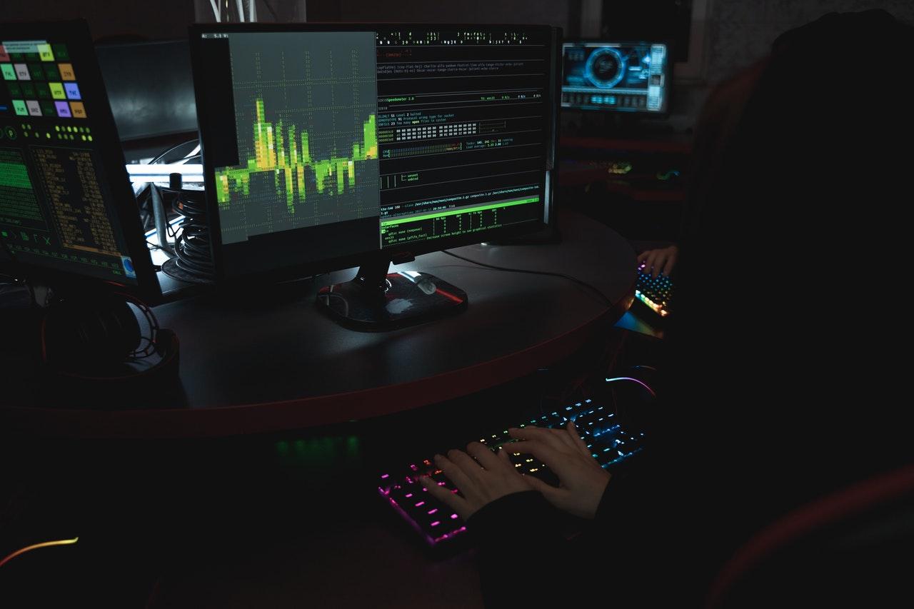 Someone using a desktop computer