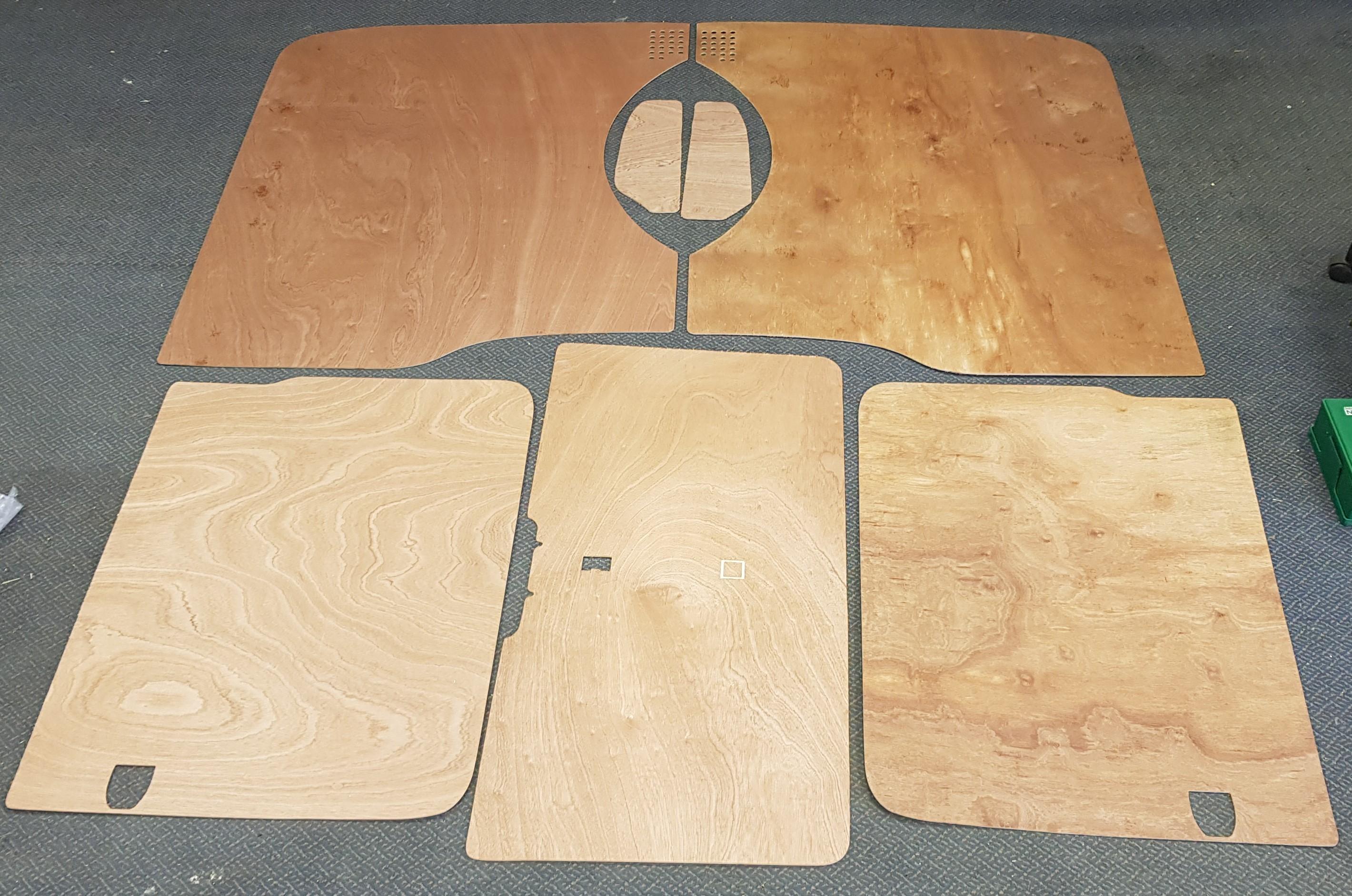 LWB T5 & T6 Plywood kit - Tailgate - Twin Slider