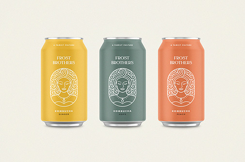 Three mock-ups of tin cans from Pixel Buddha