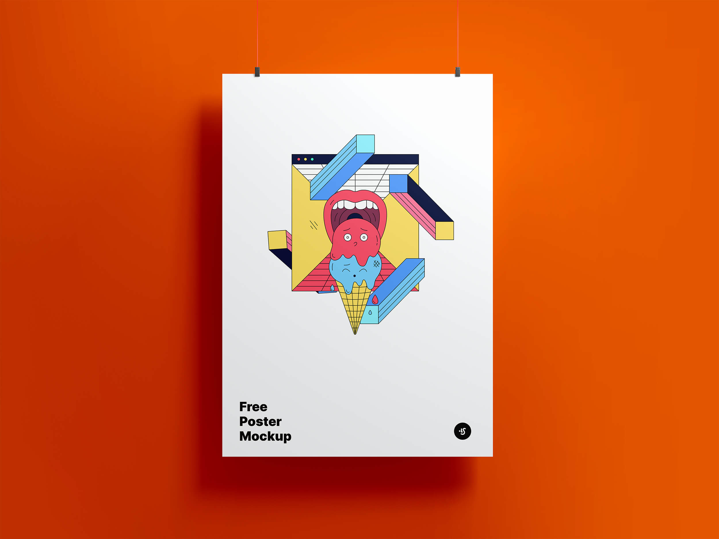 Image of poster mock-up template from LS Graphics