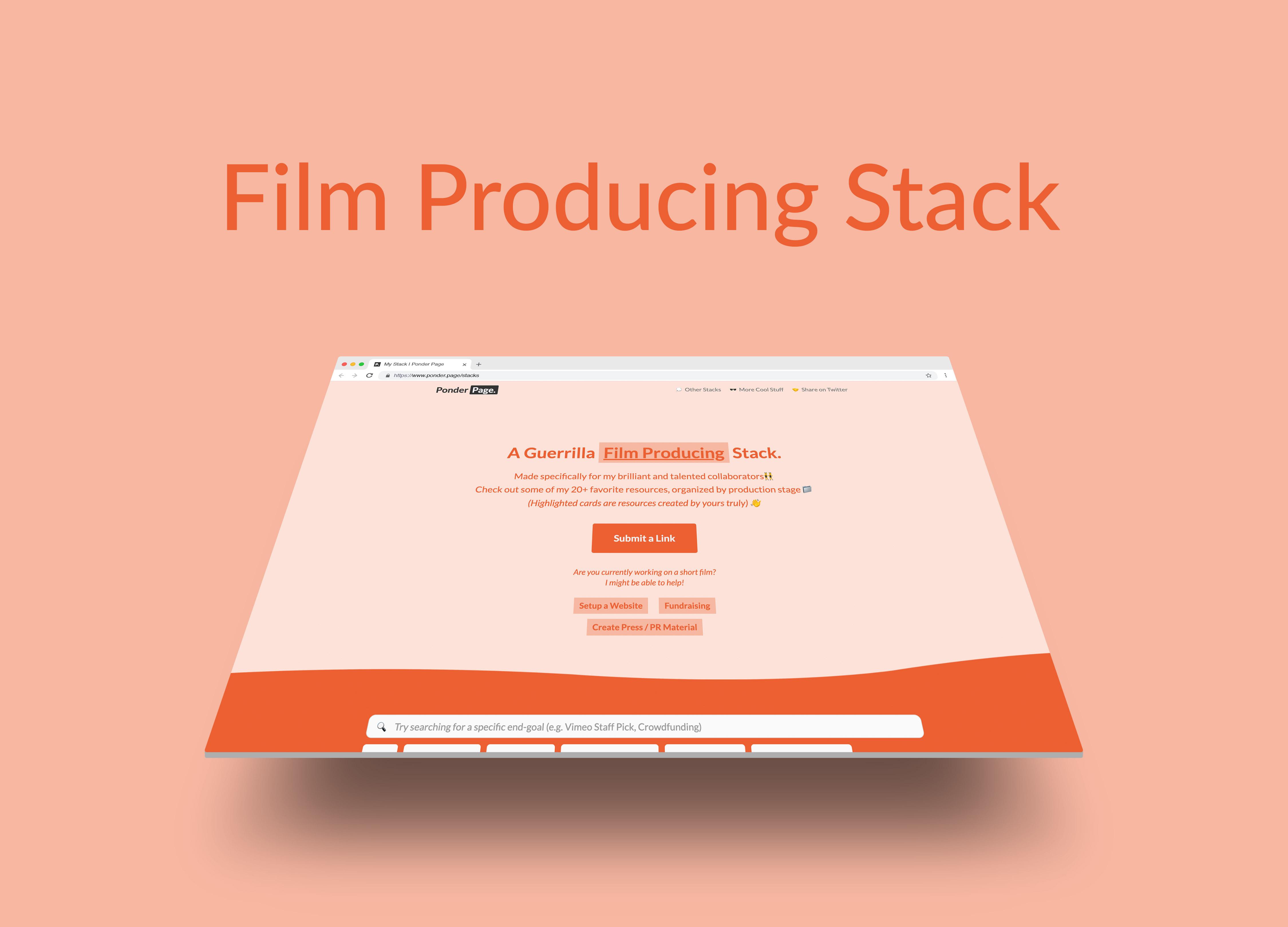 Mockup and link to Producing stacks.