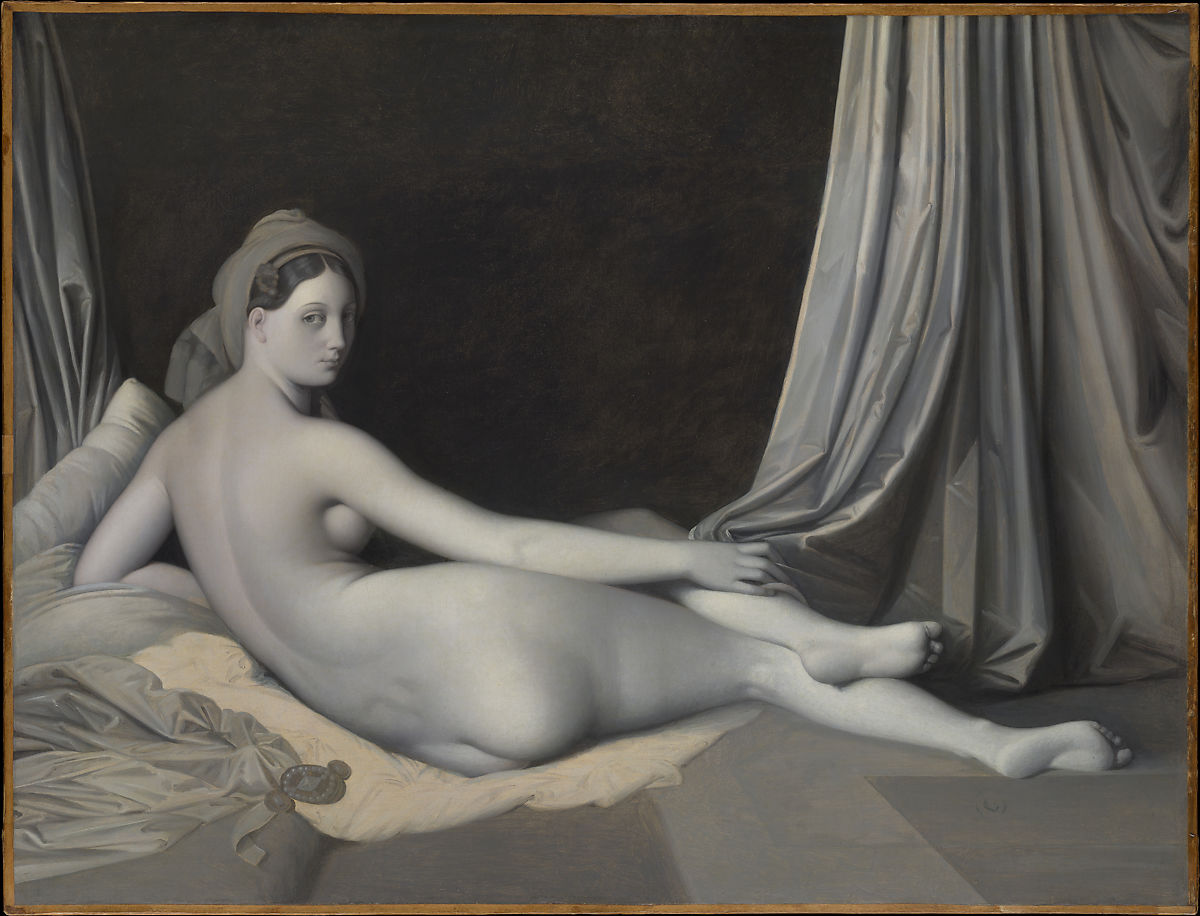 Jean Auguste Dominique Ingres: Odalisque in Grisaille, 1824–34