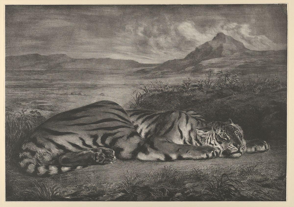 Eugène Delacroix: Royal Tiger, 1829