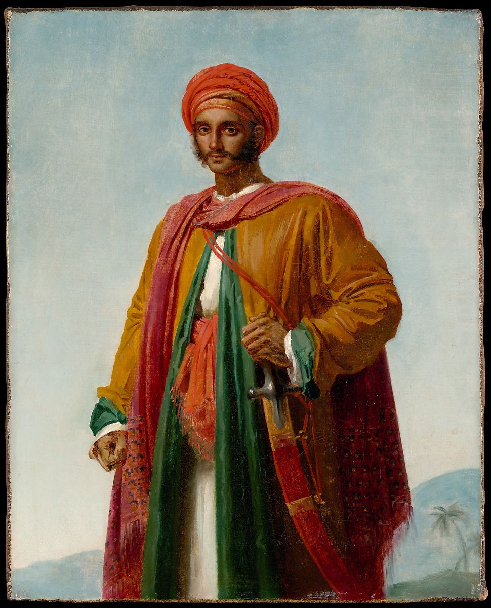 """Anne Louis Girodet-Trioson: Study for """"Portrait of an Indian"""", 1807"""