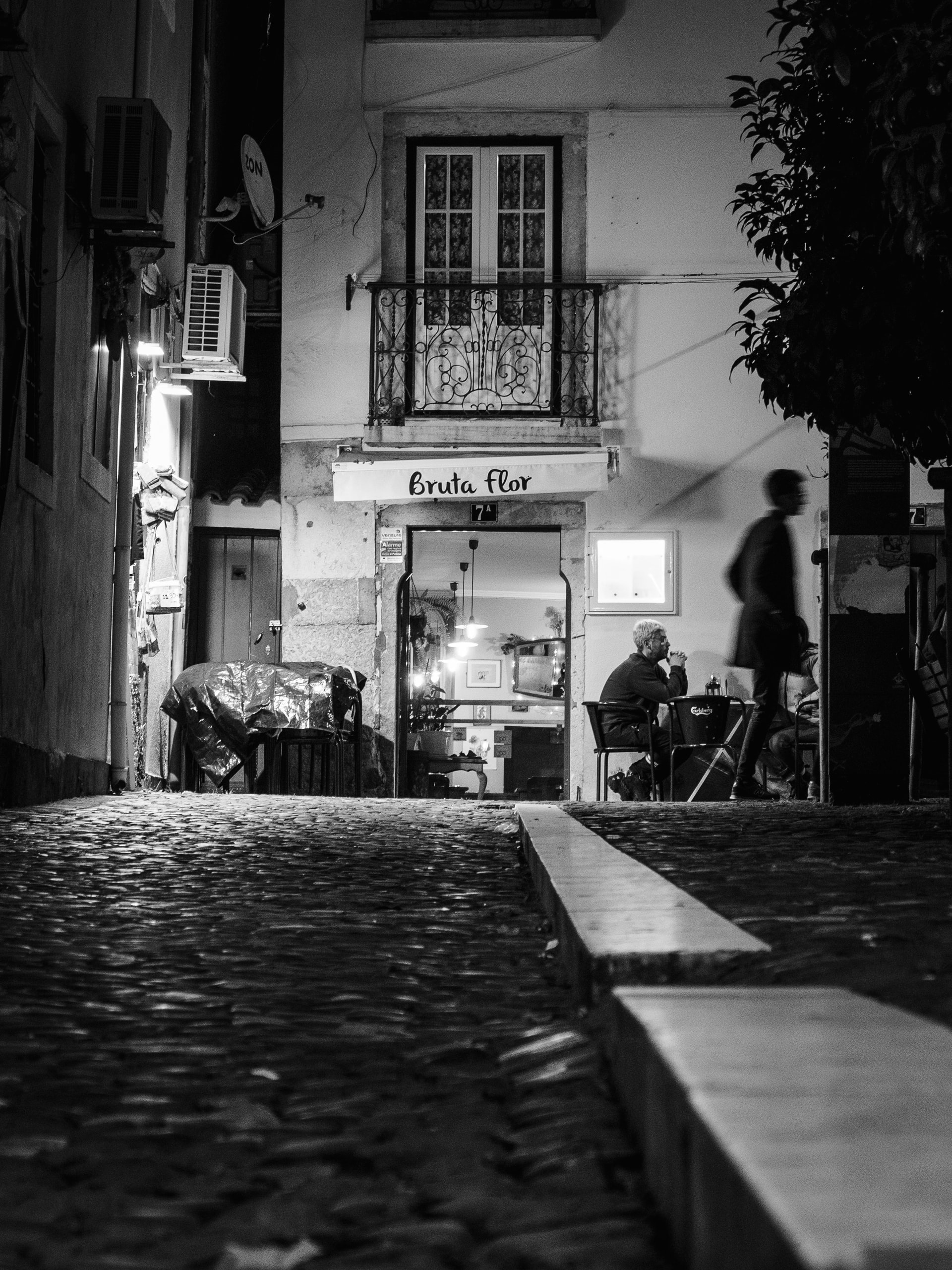 Bakery at night in Lisbon
