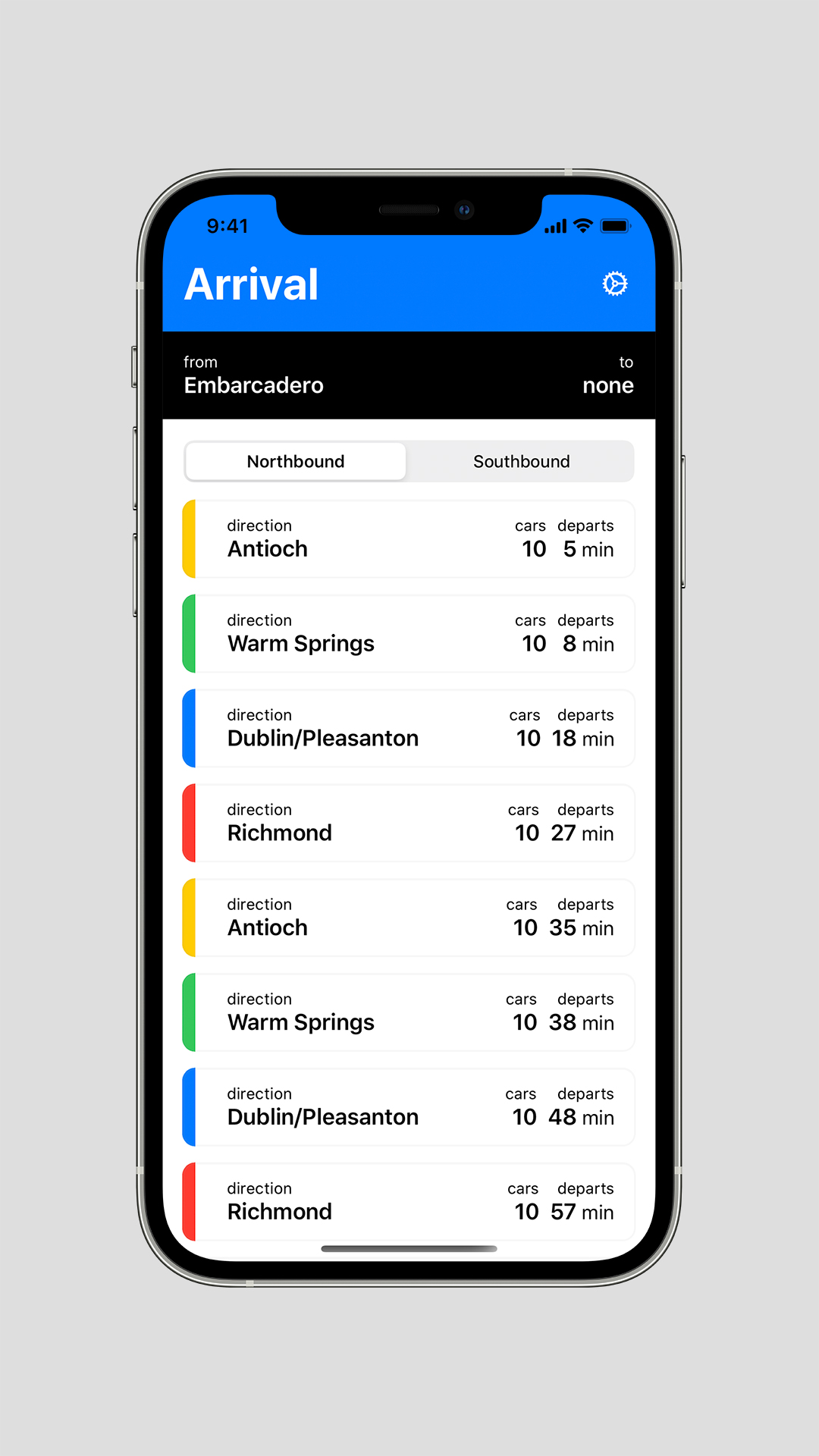 The BART app for commuters