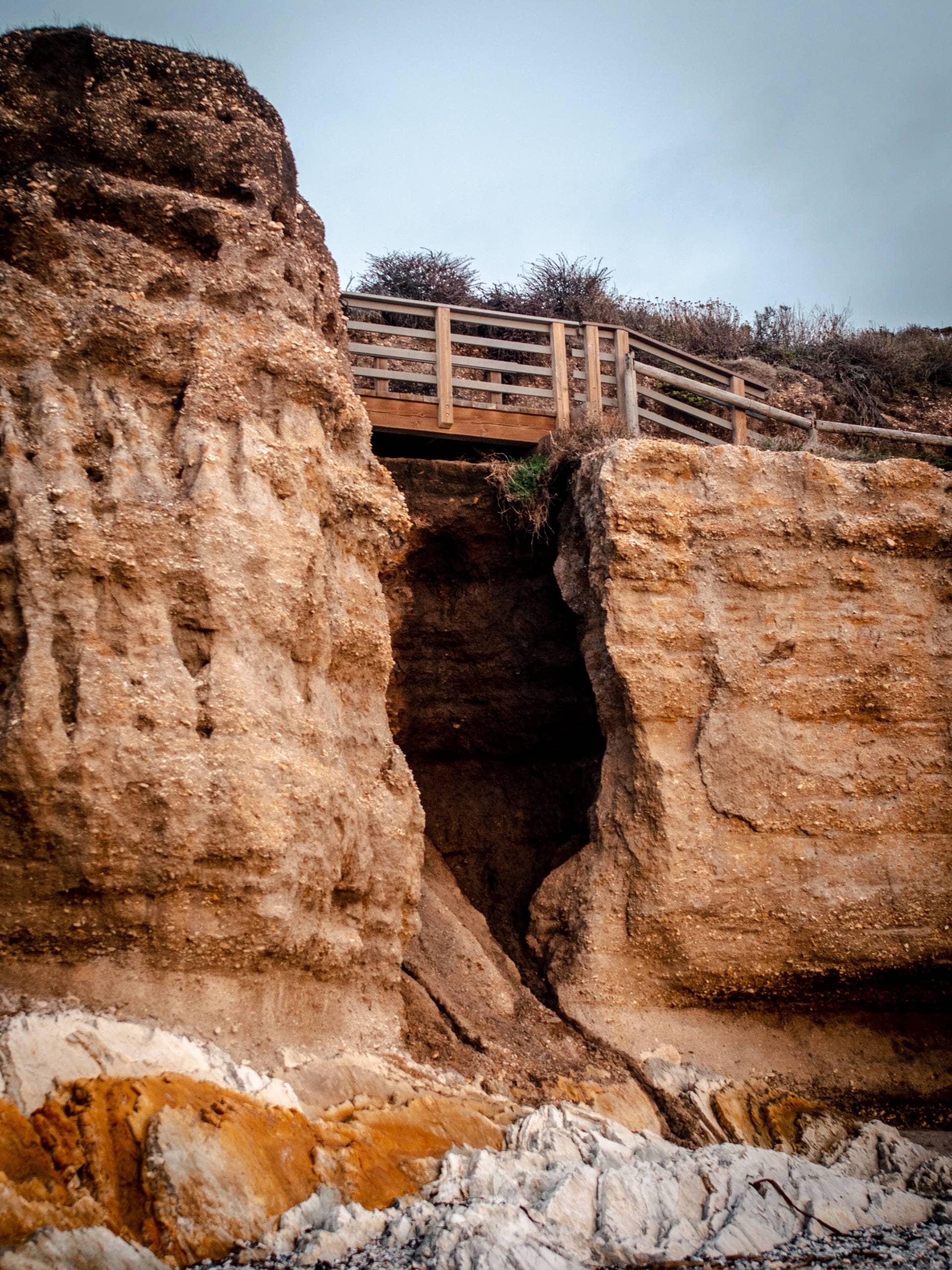 Bridge over rocks