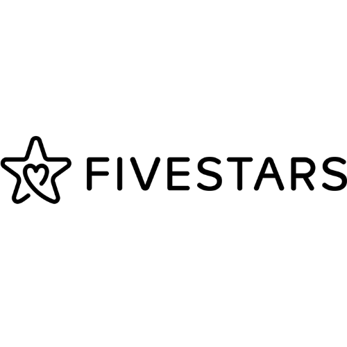 A black logo for Fivestars Inc
