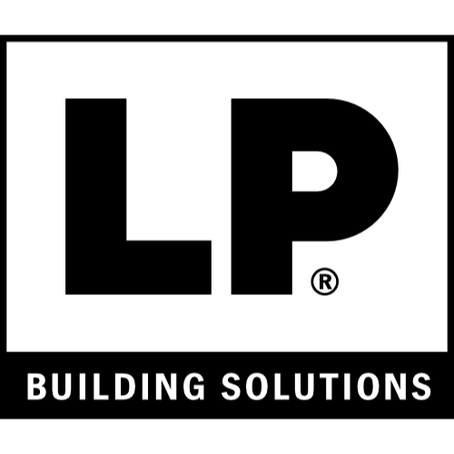 A black logo for Louisiana Pacific Corporation