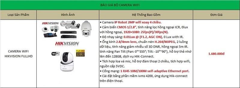 Giá lắp đặt bộ Camera WiFi Hikvision