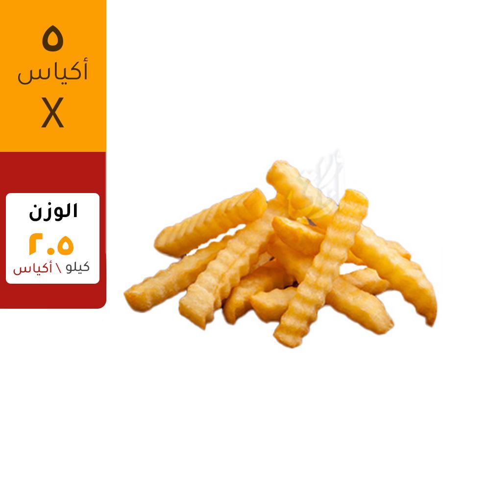 ماكين بطاطس مقلية كرينكل ٢.٥ كيلو للكيس/ ٥ أكياس