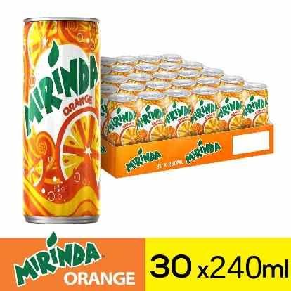 ميراندا مشروب غازي برتقال علب ٢٤٠مل