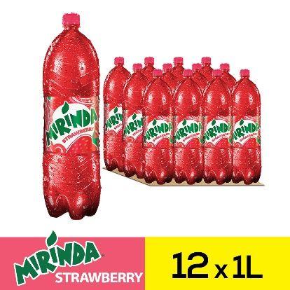 ميراندا مشروب غازي فراولة علب ١لتر