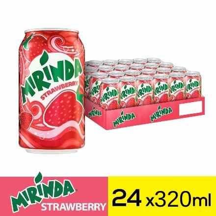 ميراندا مشروب غازي فراولة علب ٣٢٠مل