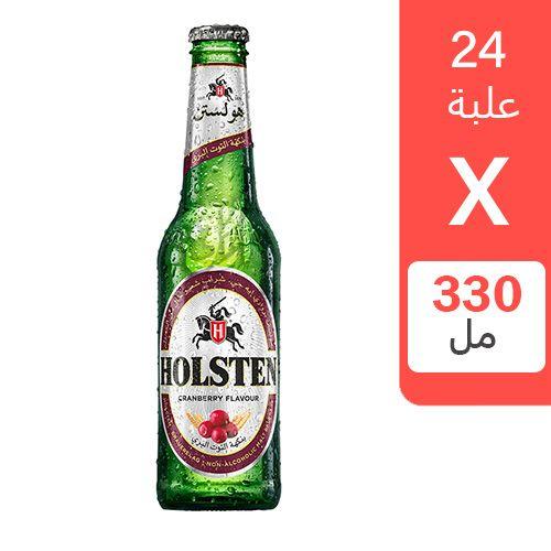 شراب الشعير هولستن بنكهة التوت البربري 330 مل 24 علبة