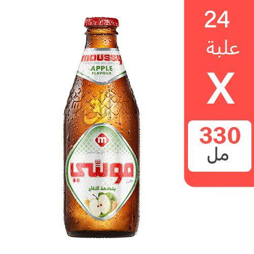 شراب الشعير موسي بنكهة التفاح 330 مل  24 زجاجة