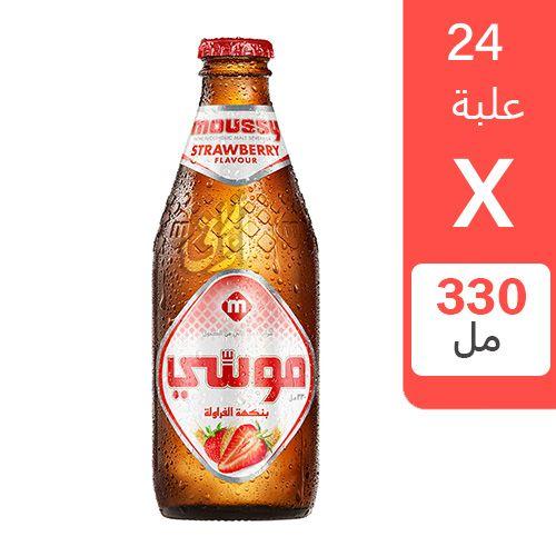 شراب الشعير موسي بنكهة الفراولة 330 مل 24 زجاجة